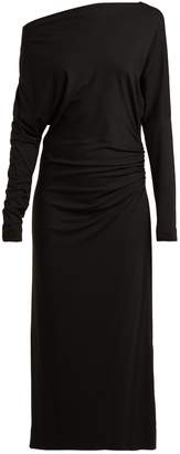 Vivienne Westwood Thigh boat neck ruched midi dress