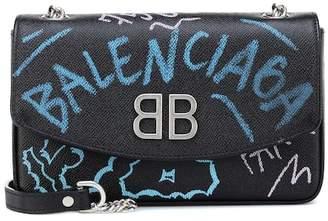 Balenciaga BB Chain Graffiti shoulder bag