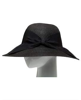 The Two Mrs Grenvilles Paper Braid Hat With Gg Bow