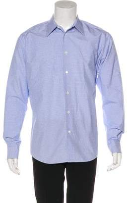 Hermes H Patterned Dress Shirt