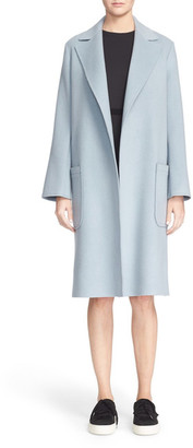 Helmut Lang Three-Quarter Wool & Cashmere Blend Coat $1,195 thestylecure.com