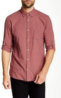 John Varvatos Long Sleeve Roll Up Slim Fit Shirt