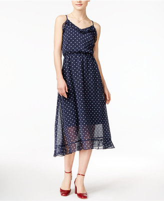 Maison Jules Polka-Dot Midi Dress, Only at Macy's $79.50 thestylecure.com