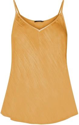 Gisy Mustard Silk Bias Cut Camisole
