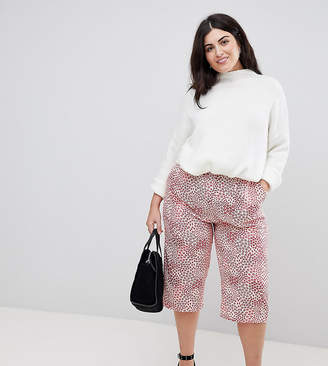 AX Paris Plus Mix & Match Floral Cropped Pants