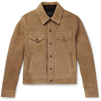 Rag & Bone Suede Trucker Jacket - Tan