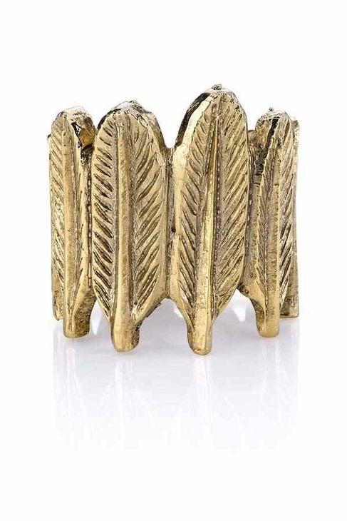 House Of Harlow Feather Row Ring