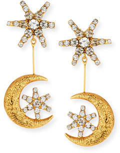 Jennifer Behr Atlas Star & Moon Drop Earrings