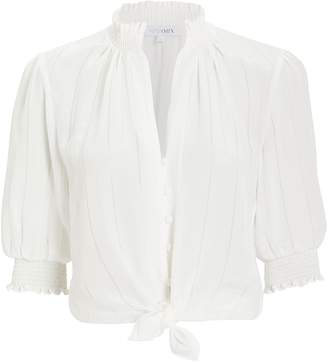Intermix Eileen Tie Front Blouse