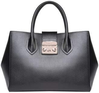 Furla Metropolis M Shopping Pebbled-leather Tote