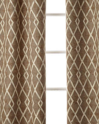 "Sweet Dreams Argyle Curtain, 96""L"