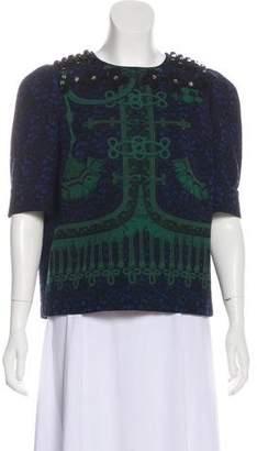 Louis Vuitton Wool Printed Blouse