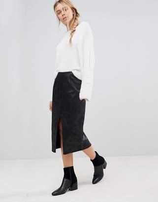 Glamorous Split Hem Pencil Skirt
