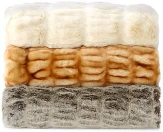 Hudson Park Collection Faux Fur Throw - 100% Exclusive