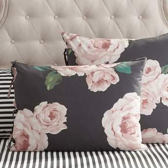Pottery Barn Teen The Emily & Meritt Bed Of Roses Standard Sham, Black/Pink