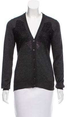 Dolce & Gabbana Cashmere Lace-Paneled Cardigan