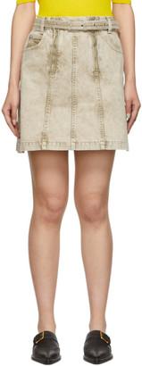 Proenza Schouler Taupe Denim Zipper Skirt