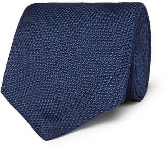 Tom Ford 8cm Woven Silk Tie - Men - Blue