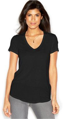 RACHEL Rachel Roy V-Neck T-Shirt, Only at Macy's $49 thestylecure.com