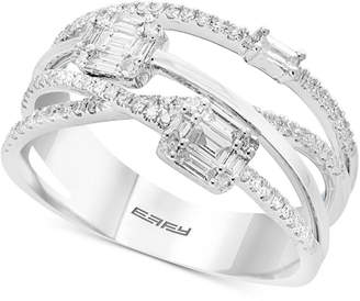 Effy Classique by Diamond Crisscross Ring (1/2 ct. t.w.) in 14k White Gold