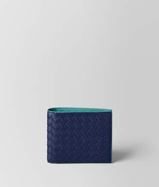 Bottega Veneta ATLANTIC INTRECCIATO VN/AQUA NAPPA WALLET