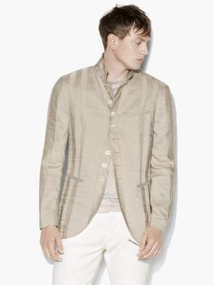 John Varvatos Paneled Multi-Button Jacket