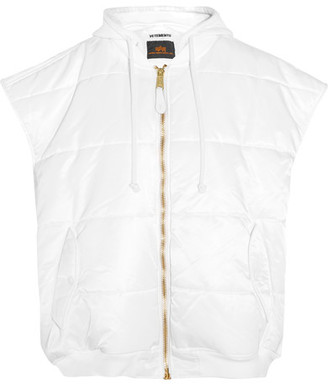 Vetements - + Alpha Industries Oversized Quilted Shell Gilet - White $1,635 thestylecure.com
