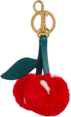 Anya Hindmarch Cherry Fur Keyring