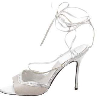 Laurence Dacade Canvas Wrap-Around Sandals $175 thestylecure.com