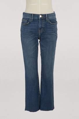 Current/Elliott Current Elliott The Kick bootcut jeans with cut hem