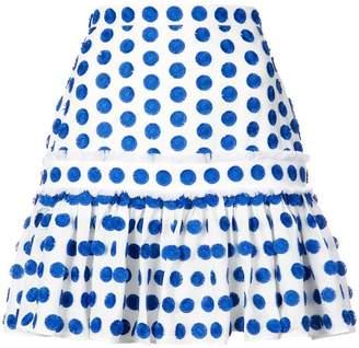 Alexis dot embroidered mini skirt