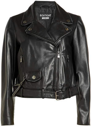 Moschino Leather Biker Jacket