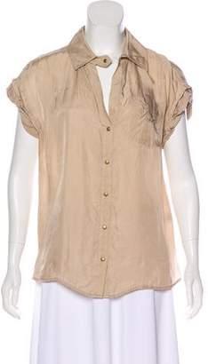Diane von Furstenberg Boye Deux Short Sleeve Top