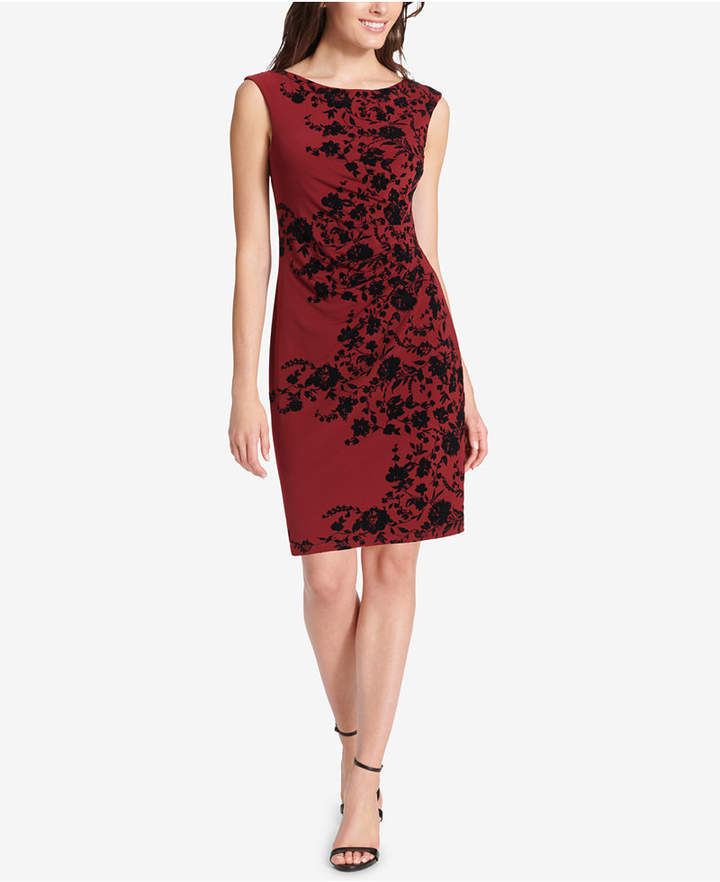 Jessica Howard Floral Ruched Sheath Dress