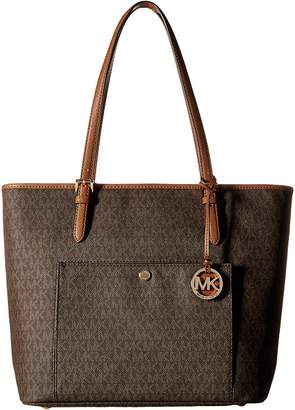 MICHAEL Michael Kors Jet Set Item Large Top Zip Snap Pocket Tote Tote Handbags