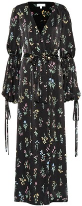 Caroline Constas Doria floral satin maxi dress