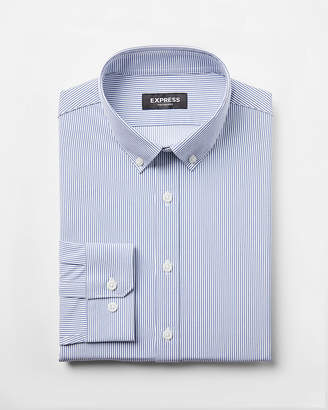 Express Extra Slim Fit Slim Button Collar Performance Shirt