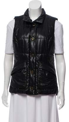 Tory Burch Quilted Button-Up Vest
