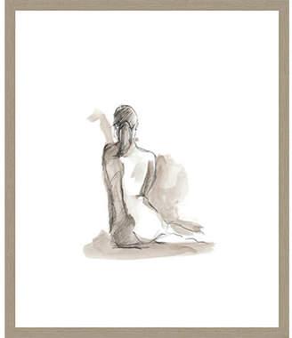 STUDY Gesturial Figure V Framed Print