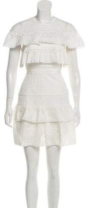 Self-Portrait Eyelet Mini Dress w/ Tags