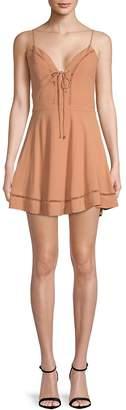 Lovers + Friends Women's Sadie Tie-Front Fit-&-Flare Dress