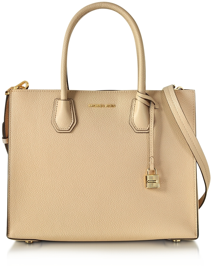 MICHAEL Michael Kors Michael Kors Mercer Large Oyster Pebble Leather Convertible Tote Bag