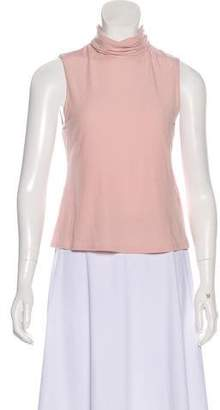 4d37151d94cce Pink Sleeveless Turtleneck - ShopStyle