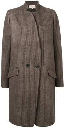 Vanessa Bruno checked two button coat