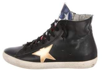 Golden Goose Leather Francy High-Top Sneakers