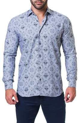 Maceoo Fibonacci Rocker Trim Fit Print Sport Shirt
