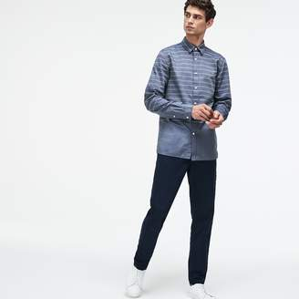 Lacoste Men's Slim Fit Striped Poplin Shirt