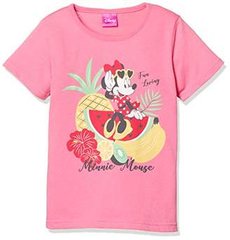 Disney (ディズニー) - [ディズニー] ミニー トロピカル柄 半袖 Tシャツ 332222093 ピンク 日本 110 (日本サイズ110 相当)