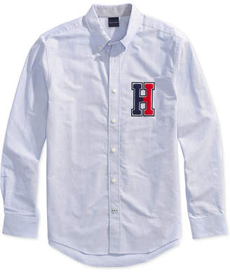 Tommy Hilfiger Adaptive Men H Applique Shirt with Magnetic Buttons