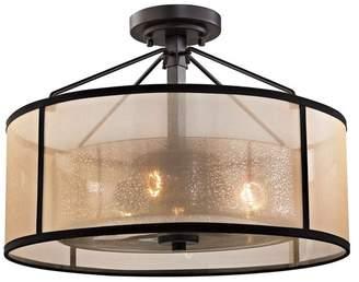 ELK Lighting Diffusion 3-Light Semi-Flush Lamp, Oil Rubbed Bronze